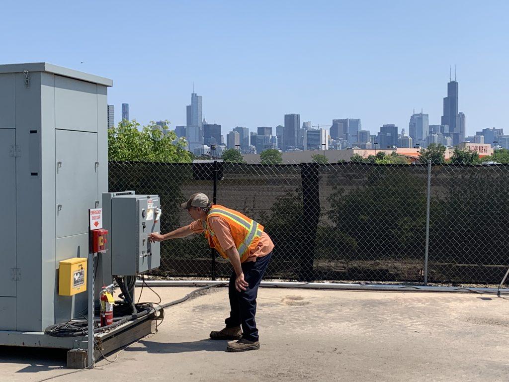 Remediação térmica no local de redesenvolvimento de Chicago
