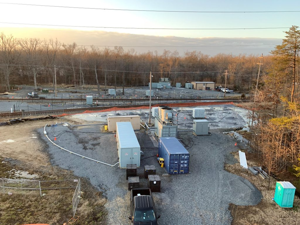 Drone Flyover of Maryland Remediation Site Next to and under Railroad Tracks