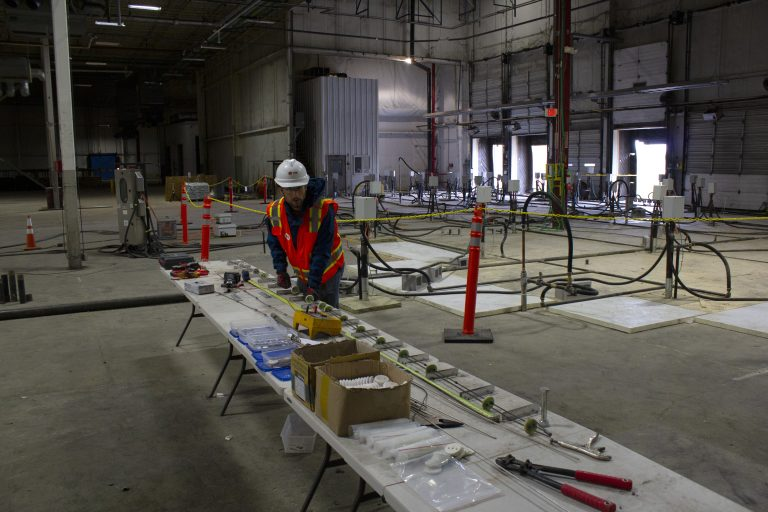 A TRS project engineer tests our patent-pending FlexHeater element at a thermal conduction heating site in the Midwest.