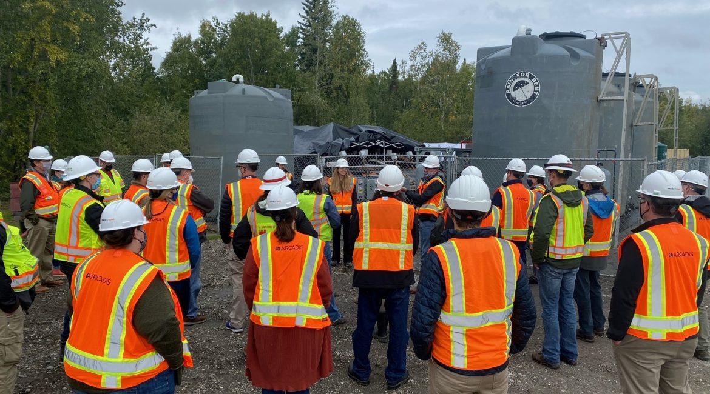 PFAS remediation in soil site tour demo day in Alaska